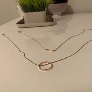 (3/$20) Gold necklace (2 pack)